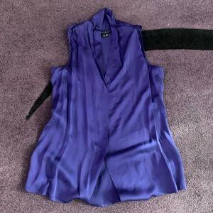 Theory purple silk blouse size medium